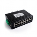 16 LAN Ports 100M Unmanaged Industrial Ethernet Switch