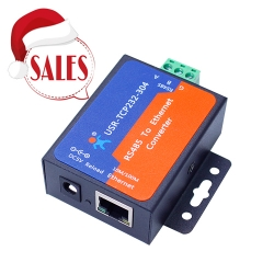 Low-cost serial RS485 to TCP/IP Ethernet converter