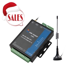 4 Channel WIFI and Ethernet Network IO Controller supports 4 DI/4 DO/2AI/1PT/RS485 port*