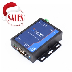 Industrial RS232/RS485/RS422 3-in-1 serial to Ethernet converter supports hardware watchdog