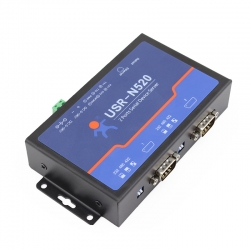Double Serial Device RS232/RS485/RS422 to Ethernet Server